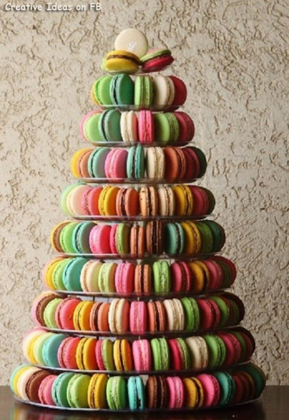 Christmas-creative-sweets-and-deserts-ideas-Macarons-tree-585x849