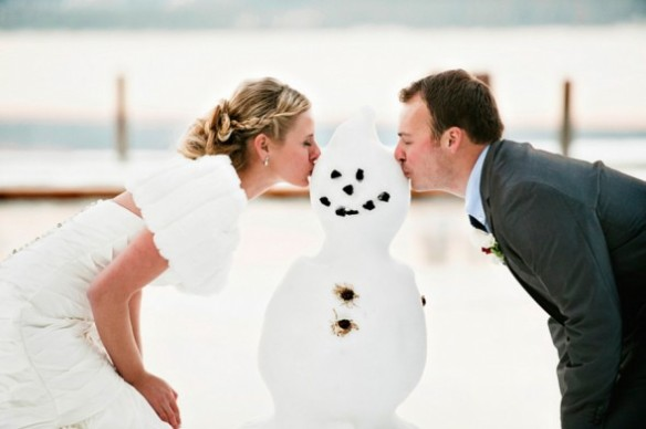 wedding-with-snowman