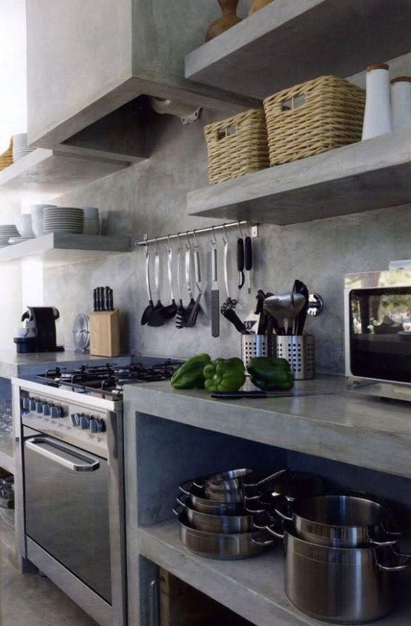 Hormig n para las encimeras de la cocina cienmilcuartos - Encimera de hormigon ...
